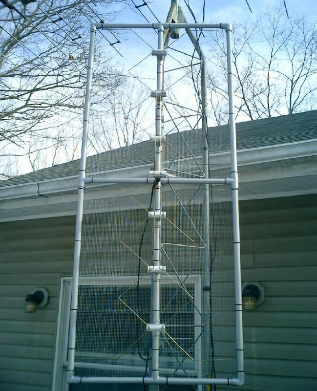 the antenna, installed